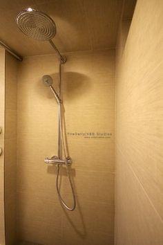 large tile in shower