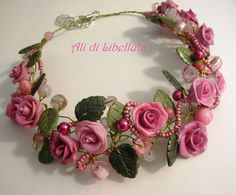 """Ali di Libellula: COLLIER """"ROSES DELIGHT"""""""