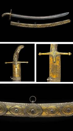 An historic gem-set and gilt silver-mounted Islamic saber attributed to Tipu Sultan and captured at the Siege of Seringapatam in 1799, probably Turkish, 17th century