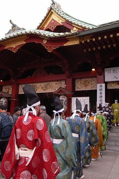 Kanda Myoujin Shrine,Tokyo  神田明神  These men are all wearing kariginu