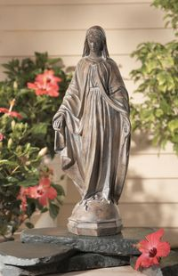 Love The Lantern Next To This Statue Of The Blessed Mother. | Blessed Mother  | Pinterest | Gardens, Vintage And Prayer Garden