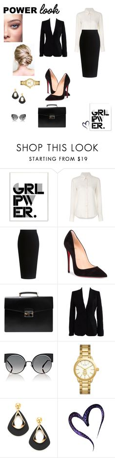 """""""GIRL POWER: Power Look"""" by egiuffre525 on Polyvore featuring Stupell, Chloé, Theory, Christian Louboutin, Prada, Dolce&Gabbana, Fendi, Tory Burch, girlpower and powerlook"""