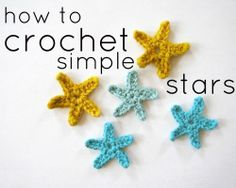 How to Crochet Simple Starfish Stars by full-flower-moon.tumblr.com