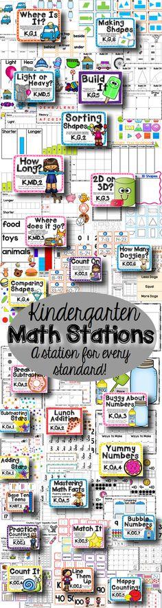 A math station for every Kindergarten standard!