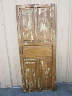 Antique Mexican Old Door-Primitive-Rustic-32.5x79.5-Headboard-Table-White Shabby-Barn Doors-Barn Door by RanchoAdobe on Etsy