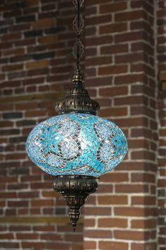 Mosaic Pendant Lamp in Turquoise