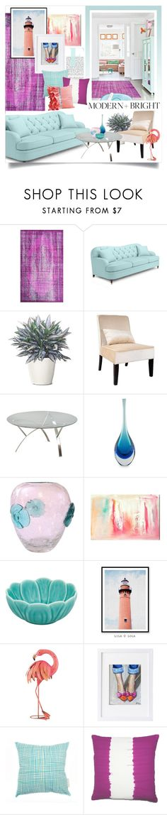 """""""Purple & Blue"""" by katrinaalice ❤ liked on Polyvore featuring interior, interiors, interior design, home, home decor, interior decorating, nuLOOM, Kate Spade, CorLiving and Christopher Knight Home"""