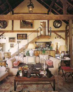 Bunny Williams' converted barn.