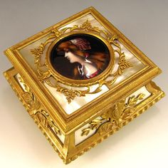 Antique French Limoges, Bronze Jewelry Box
