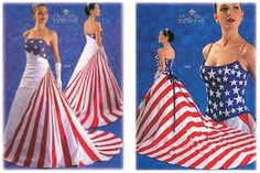 Red White Blue Wedding Dresses. THIS is what I should have worn on my wedding day!