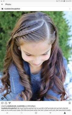 46 Top Hair Styles For Long Hair For School Kids Curls – Www - Nice Hairstyles Curls For Long Hair, Braids With Curls, Girls Braids, Curls Hair, Young Girls Hairstyles, Flower Girl Hairstyles, Children Hairstyles, Hairstyles Pictures, African Hairstyles