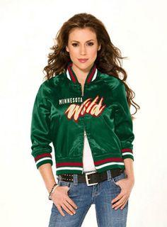 2bcfc140a Minnesota Wild Women s Classic Satin Baseball Collar Jacket - Touch by Alyssa  Milano Minnesota Wild