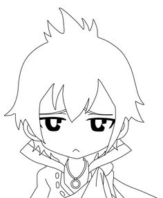 chibi fairy tail coloring pages - photo#12