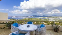 Penthaus miit beeindruckendem Panoramblick auf berge und Meer http://www.casanova-immobilienmallorca.de/de/apartment-wohnung/expose/1201803