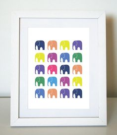 I bought three 8X10 prints by this Australian artist for the baby's room. I love all the bright colors!