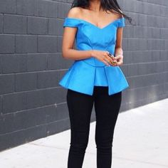 Cameo the label top - xs / blue Used only once. Good as brand new. Cameothelabel Tops