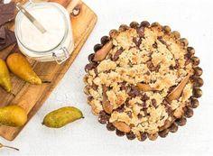 Smulpaj med päron, choklad & mint