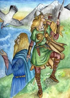 Njord (Niord) The Norse god of the sea and seafarers, and also a fertility god.  Njord was a Vanir god. He went to live in Asgard after the Aesir/Vanir War. He took with him his twin children, Frey and Freya, both fertility gods. In some tellings, Njord's first wife and the mother of the twins was Nerthus, his sister. As the Aesir did not approve of marriage between brother and sister, Njord had to leave Nerthus behind. Njord's second wife was Skadi, goddess and giantess of winter.
