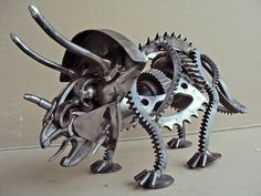 These fantastic metal creatures are the work of Metal Morphoses an artist from Greece.