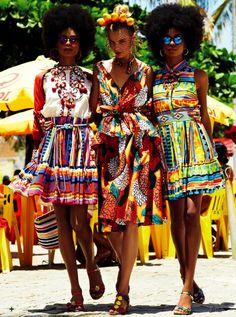 Bright Floral & Tribal Pattern Prints