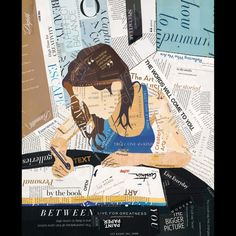 'Open Book' - mixed media painting/collage by Richard Curtner.