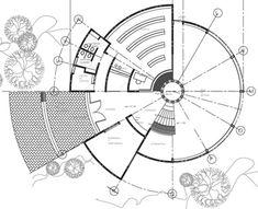 ARQUIMASTER.com.ar | Proyecto: Biblioteca en Universidad del Mar - Arq. Jesús Sánchez Luqueño | Web de arquitectura y diseño Landscape Architecture Drawing, Architecture Concept Drawings, Architecture Collage, Futuristic Architecture, Architecture Design, Circle House, House Front Design, Parking Design, Doodle Art Designs