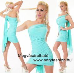 Félvállas elegáns alkalmi női ruha