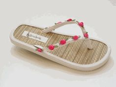 Kick off your heels and have some fun wedding flip flops. A unique bridesmaid gift. Kid Shoes, Baby Shoes, Bridesmaid Gifts Unique, Wedding Flip Flops, Flip Flop Shoes, Flats, Sandals, Dream Dress, Baby Kids