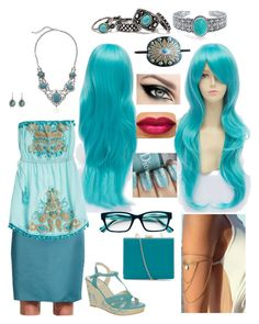 Pencil skirt inspiration 246. Turquoise by nickycat on Polyvore featuring Calypso St. Barth, St. John, Anna Field, Bling Jewelry and Corinne McCormack
