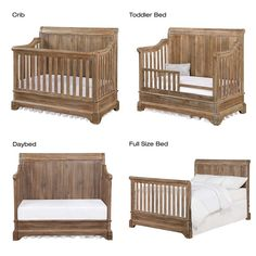 Bertini Pembrooke 5-in-1 Convertible Crib in Natural