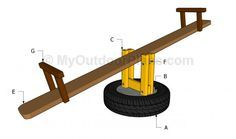 Seesaw Plans | Free Outdoor Plans - DIY Shed, Wooden Playhouse, Bbq, Woodworking Projects