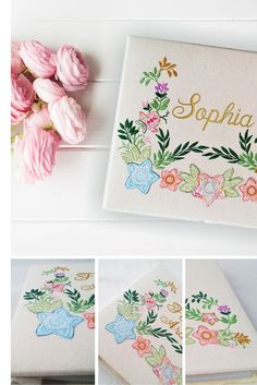 Personalized Embroidered Album * So Adorable, will make a great gift!