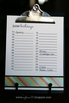 Ingenious!  :)  I am always forgetting birthdays and/or anniversaries!  Would make a great gift idea!!