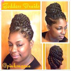 Goddess Braids | Hair | Pinterest