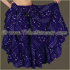 Tribe Nawaar Indigo Blue Jaipur Skirt