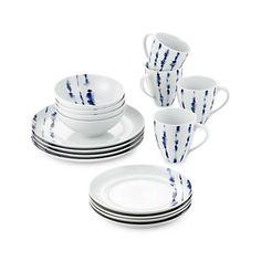 Blue And White Dinnerware, Shibori Fabric, Casual Dinnerware, White Plates, Simple Shapes, Crate And Barrel, White Porcelain, Dinner Plates, Crates