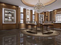 Retail Jewelry Display, Jewellery Shop Design, Jewellery Showroom, Jewelry Stores, Jewelry Shop, Luxury Jewelry, Showroom Interior Design, Modern Interior Design, Luxury Store