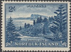 Norfolk Island 1959 2/- Blue Ball Bay MUH Islands In The Pacific, Norfolk Island, Island Nations, Vintage Stamps, King George, Stamp Collecting, Vintage World Maps, Prints, Queen Elizabeth