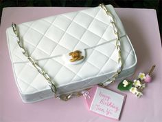 White Chanel Bag Cake by specialcakes/tracey, via Flickr