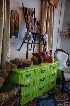 Danielle would LOVE this green dresser!