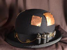 Steampunk Hat Antique Derby Bowler Hat Late by AnotherWorldDesign