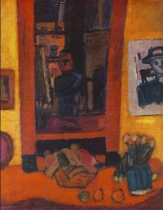 Béla Czobel In the Atelier 1922 Post Impressionism, Art Database, Hanging Art, Still Life, Marcel, Hungary, Painting, Fall Living Room, Exhibitions