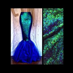High Waisted Sequin Sexy Mermaid Skirt by SPARKLEmeGORGEOUS