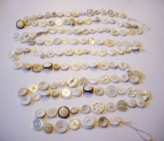 Vintage Christmas Garland White Ivory Vintage Buttons 9 Feet. $39.00, via Etsy.