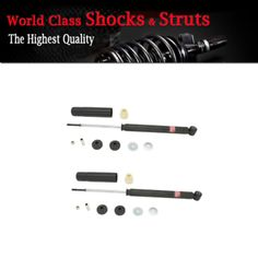 a 2pcs rear pair kyb struts shocks suspension kit for 2013 honda fit lx