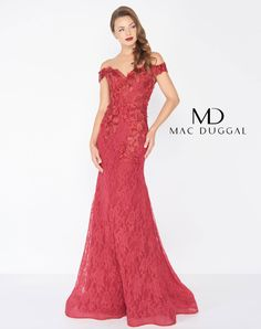 Mac Duggal off the shoulder red fitted lace dress Ypsilon Dresses Prom  Pageant Evening Wear Special Occasion Homecoming Sweethearts Evening Gown  Black Tie ... 8ee1c6bb015f
