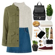 """""""Sin título #2206"""" by liliblue ❤ liked on Polyvore featuring Frame Denim, NOVICA, A.P.C., COSTUME NATIONAL, Topshop, Lauren Ralph Lauren, Aesop, Maison Margiela, BOBBY and Holga"""