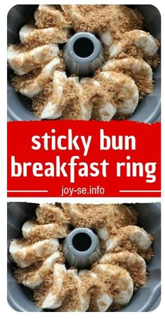 sticky bun breakfast ring -If Your Fingers Don't Get Sticky While Eating This; You're Doing It Wrong sticky bun breakfast ring – If Your Fingers Don't Get Sticky While Eating This; You're Doing It Wrong More from my site Pull-Apart Sticky Buns Breakfast Ring, Breakfast Pastries, Breakfast Items, Breakfast Dishes, Breakfast Recipes, Yummy Breakfast Ideas, Breakfast Bundt Cake, Chorizo Breakfast, Best Brunch Recipes