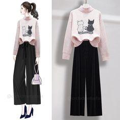 Old Fashion Dresses, Fashion Drawing Dresses, Fashion Outfits, Korean Girl Fashion, Cute Fashion, Style Fashion, Fashion Design, Casual Work Outfits, Chic Outfits
