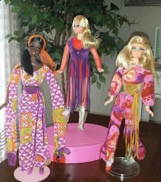 Live Action Christie, Live Action P.J. and Live Action Barbie 1971 www.modbarbies.com